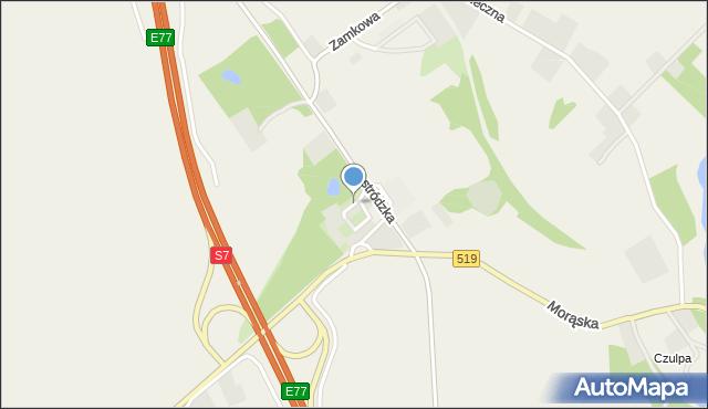 Małdyty, Parkowa, mapa Małdyty