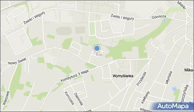 Mikołów, Parkowa, mapa Mikołów