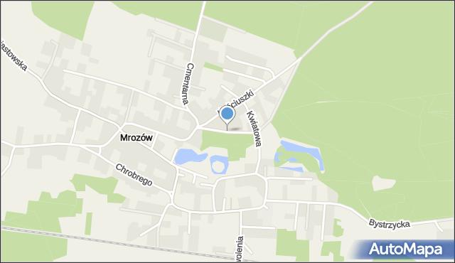 Mrozów, Parkowa, mapa Mrozów