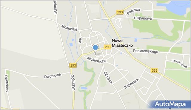 Nowe Miasteczko, Paderewskiego Ignacego Jana, mapa Nowe Miasteczko