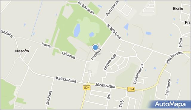 Opole Lubelskie, Parkowa, mapa Opole Lubelskie