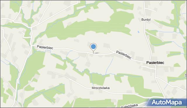 Pasierbiec, Pasierbiec, mapa Pasierbiec