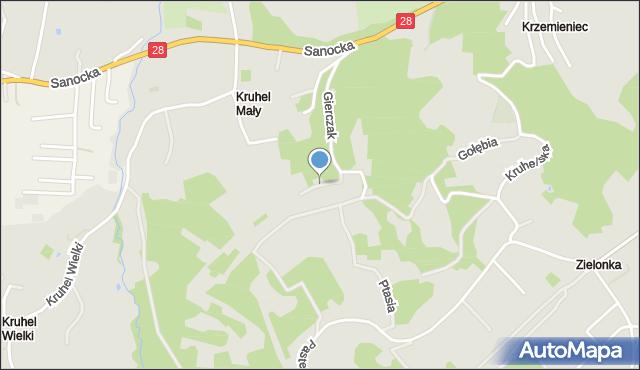 Przemyśl, Pawia, mapa Przemyśla