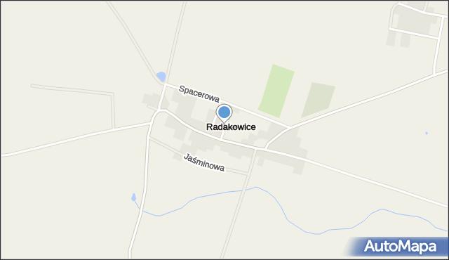 Radakowice, Pałacowa, mapa Radakowice