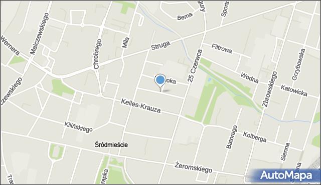 Radom, Partyzantów, mapa Radomia