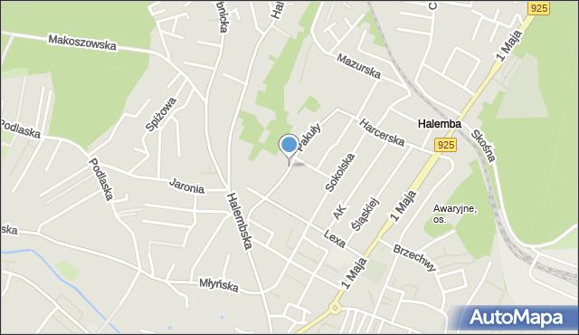 Ruda Śląska, Pakuły Alberta, mapa Rudy Śląskiej