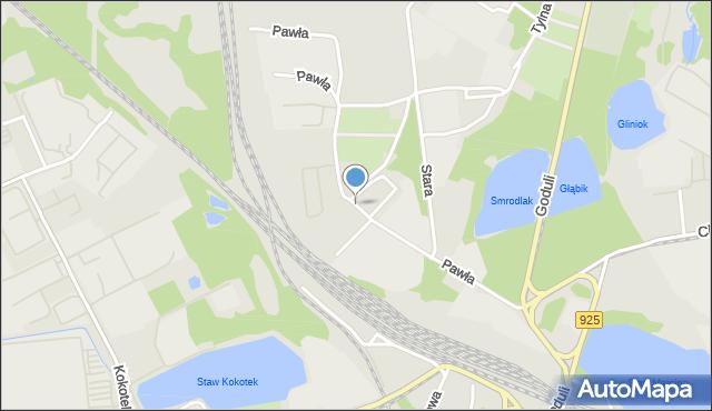 Ruda Śląska, Pawła, mapa Rudy Śląskiej
