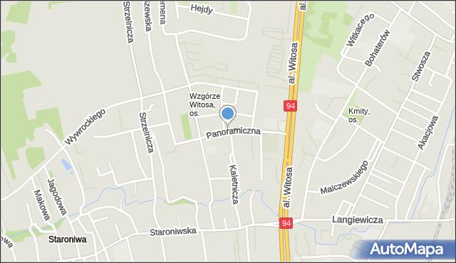 Rzeszów, Panoramiczna, mapa Rzeszów