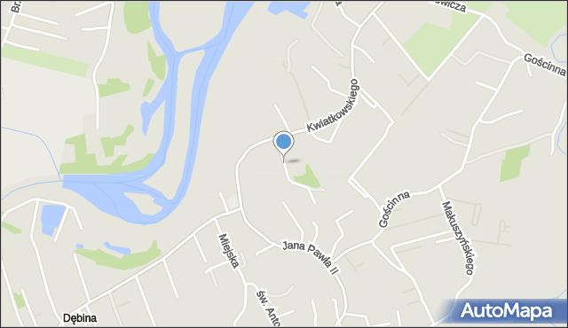 Rzeszów, Papieska, mapa Rzeszów