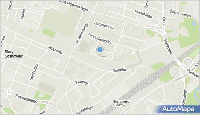 Sosnowiec, Patriotów, mapa Sosnowca