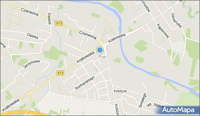 Tarnów, Pawłowskiego Józefa, mapa Tarnów
