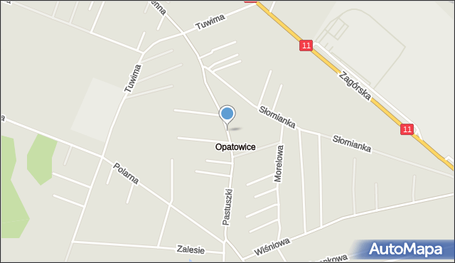 Tarnowskie Góry, Pastuszki Jana, mapa Tarnowskie Góry