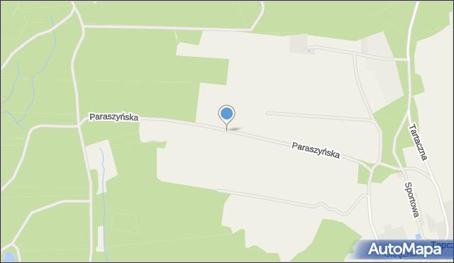Tępcz, Paraszyńska, mapa Tępcz