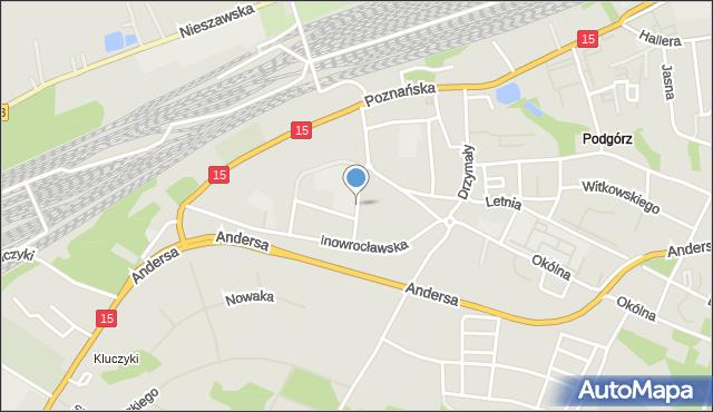 Toruń, Paderewskiego Ignacego Jana, mapa Torunia