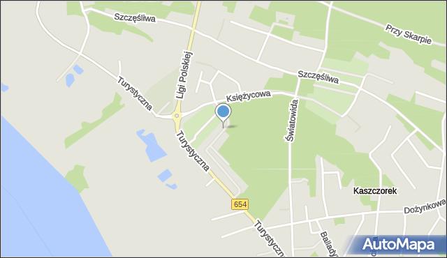 Toruń, Paluszyńskiego Stanisława, ks., mapa Torunia