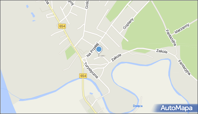 Toruń, Pana Kleksa, mapa Torunia