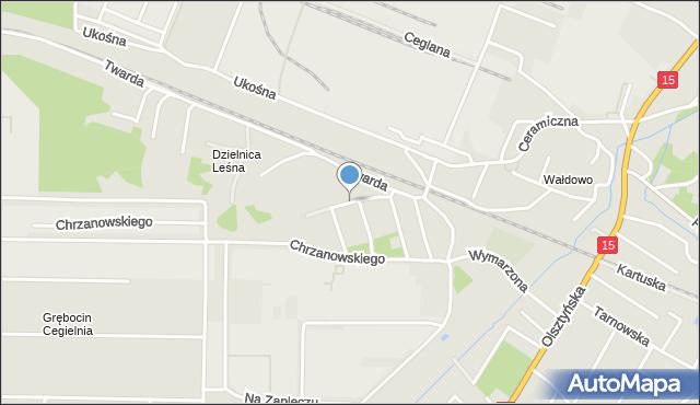 Toruń, Pancernych, mapa Torunia