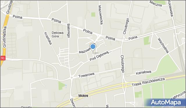 Toruń, Paszkowskiego Jerzego, ppor., mapa Torunia