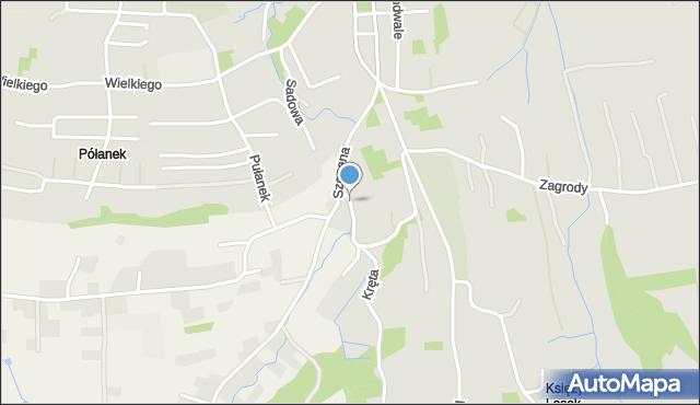 Tyczyn powiat rzeszowski, Partyzantów, mapa Tyczyn powiat rzeszowski