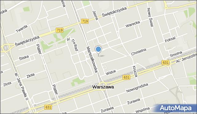 Warszawa, Pasaż Wiecheckiego Stefana, mapa Warszawy