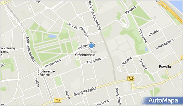 Warszawa, Pasaż Niżyńskiego Wacława, mapa Warszawy