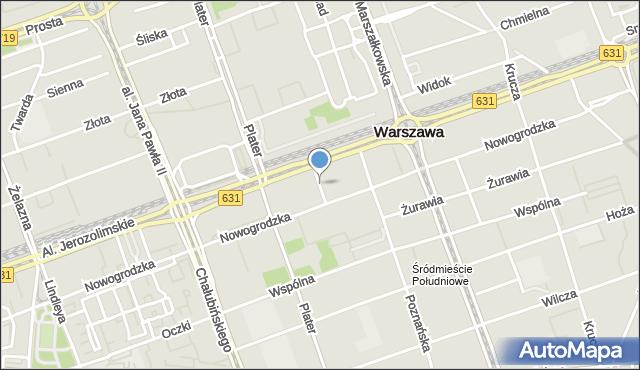 Warszawa, Pankiewicza Jana, mapa Warszawy