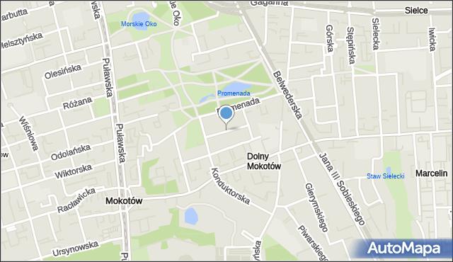 Warszawa, Padewska, mapa Warszawy