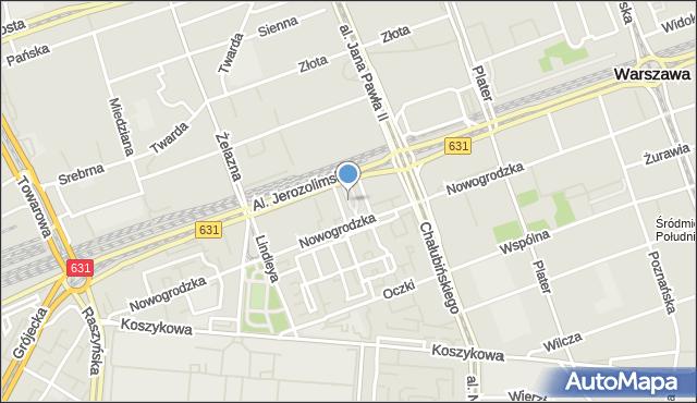 Warszawa, Pasaż Braci Łopieńskich, mapa Warszawy