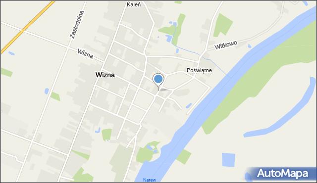Wizna, Pawła z Wizny, mapa Wizna