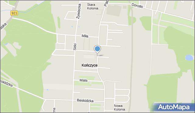 Zabrze, Paderewskiego Ignacego Jana, mapa Zabrza