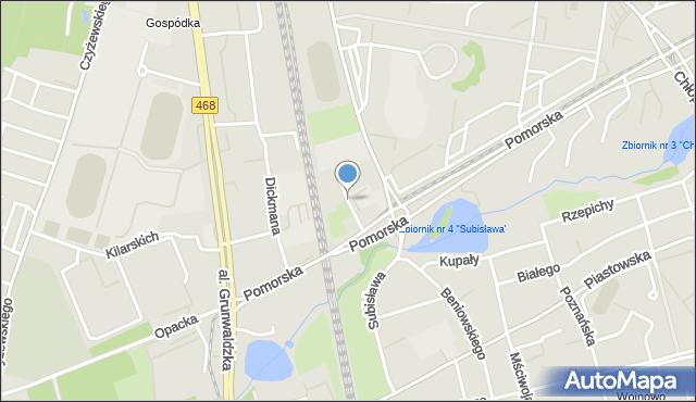 Gdańsk, Pelplińska, mapa Gdańska