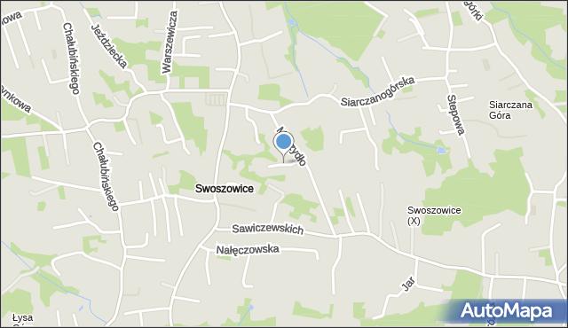 Kraków, Perłowa, mapa Krakowa