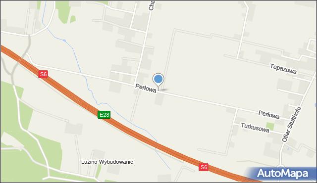 Luzino, Perłowa, mapa Luzino