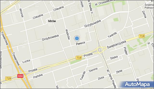 Warszawa, Pereca Icchaka Lejba, mapa Warszawy