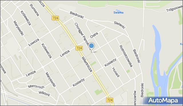 Warszawa, Petyhorska, mapa Warszawy