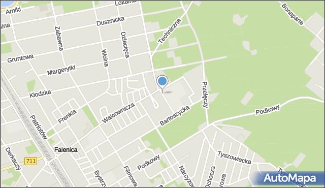 Warszawa, Petunii, mapa Warszawy