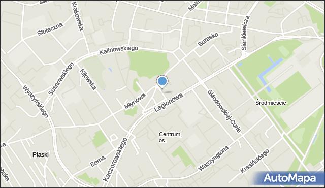 Białystok, Piękna, mapa Białegostoku