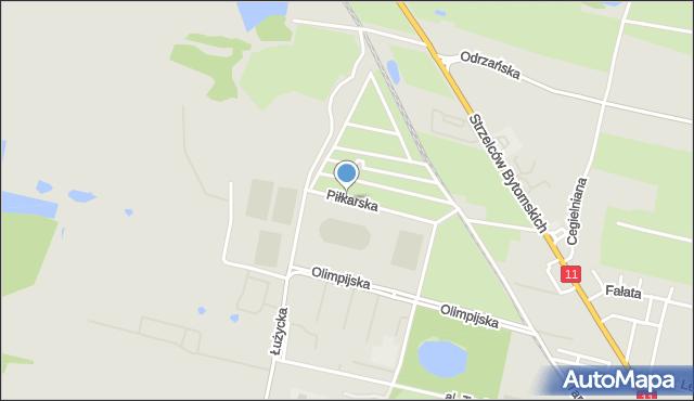 Bytom, Piłkarska, mapa Bytomia