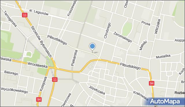 Bytom, Piłsudskiego Józefa, marsz., mapa Bytomia