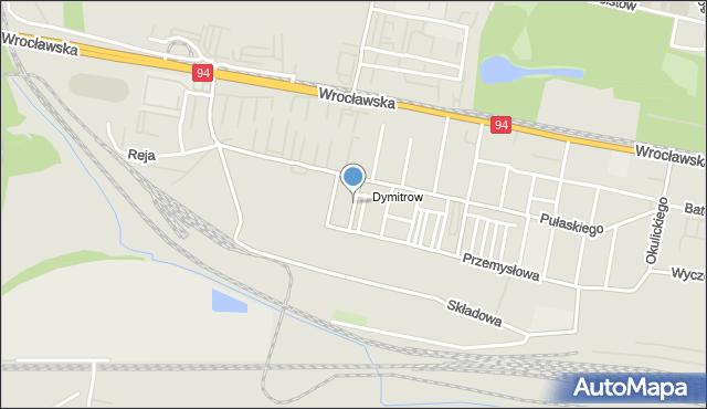 Bytom, Pionierów, mapa Bytomia