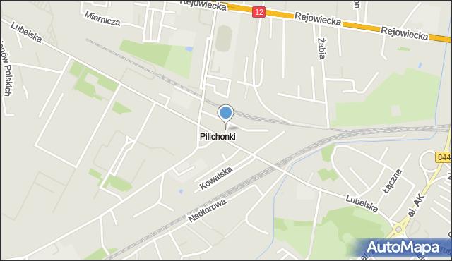 Chełm, Piekarska, mapa Chełma