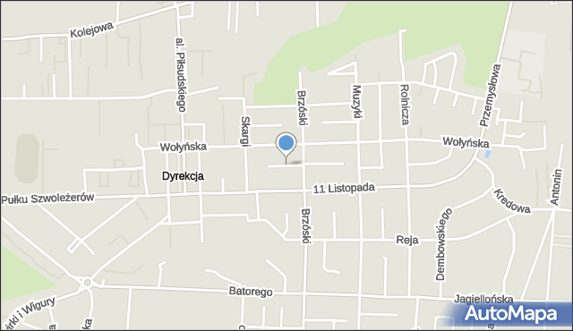 Chełm, Pierackiej Kazimiery, mapa Chełma