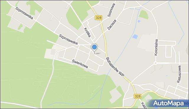 Chocianów, Piotrowska, mapa Chocianów
