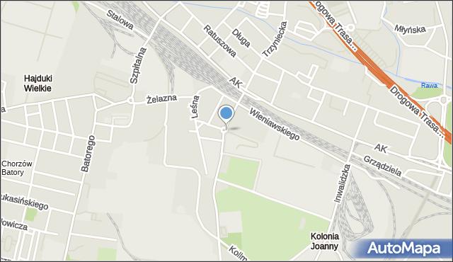 Chorzów, Piekarska, mapa Chorzów