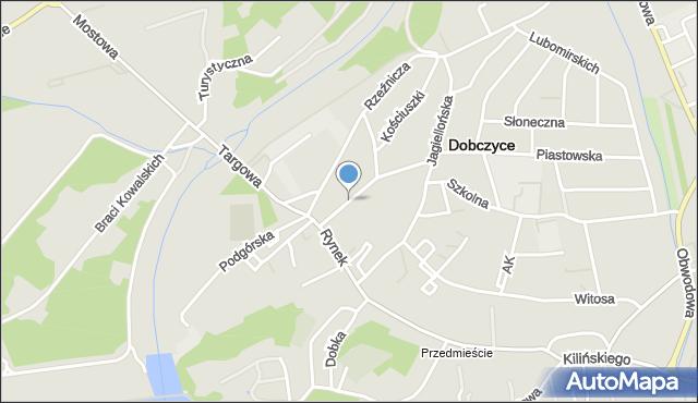Dobczyce, Piłsudskiego Józefa, marsz., mapa Dobczyce