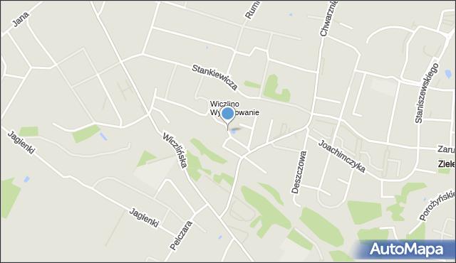 Gdynia, Pieńkawy Zdzisława, kpt., mapa Gdyni