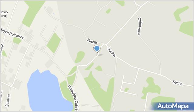 Gdynia, Pileckiego Witolda, rtm., mapa Gdyni
