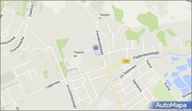 Grudziądz, Piastowska, mapa Grudziądza