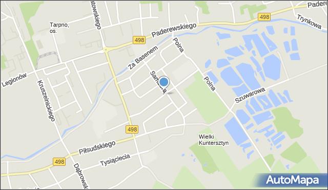 Grudziądz, Pietrusińskiego, mapa Grudziądza