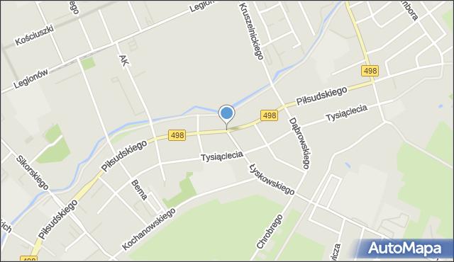 Grudziądz, Piłsudskiego Józefa, marsz., mapa Grudziądza